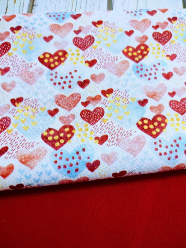 Confetti Hearts Slide on Collar Bandana Blanchard and Co Gibsonville NC 27249