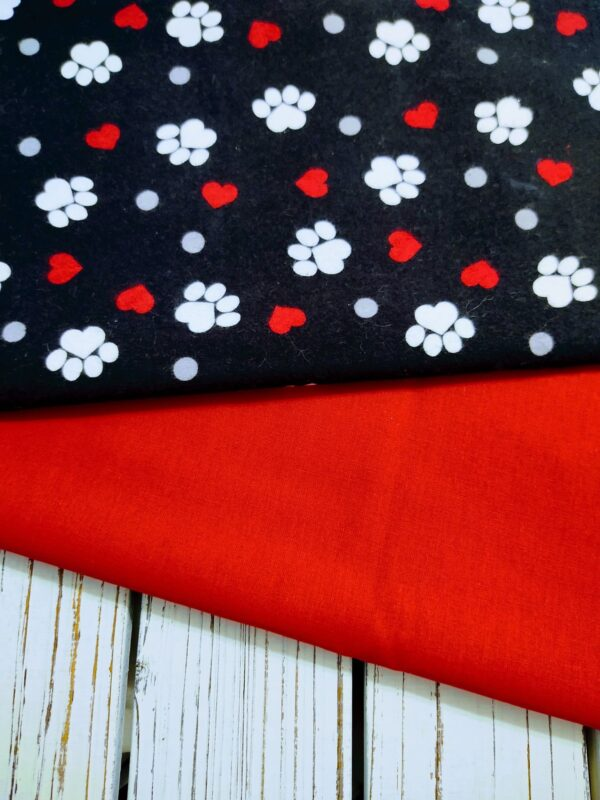 Happy Paws with Hearts Slide on Collar Bandana Blanchard and Co Gibsonville NC 27249